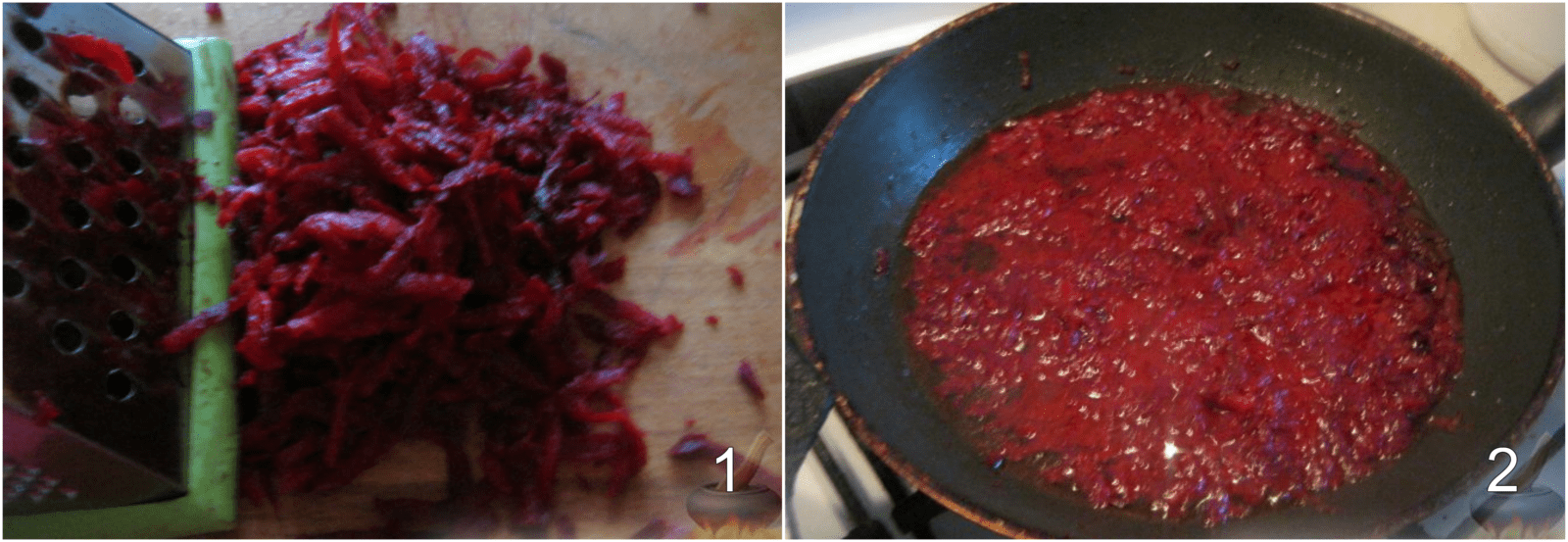 Peel and cook beets