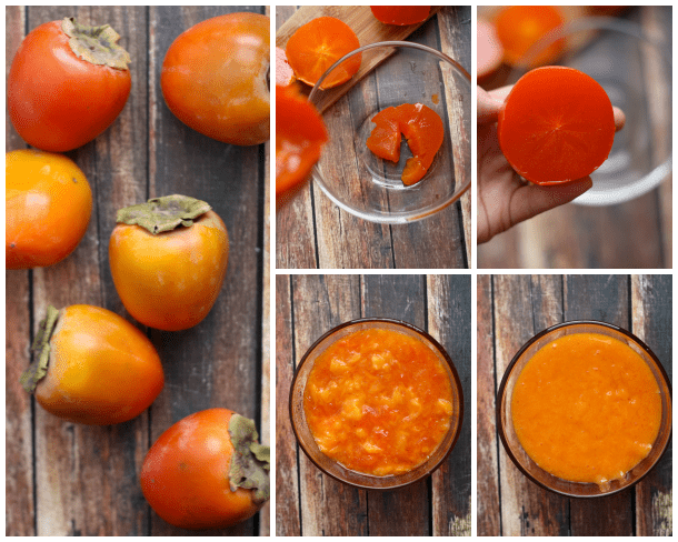 how to make persimmons puree in simple steps