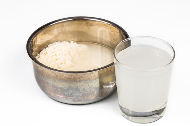 Two volumes of rice for three volumes of water
