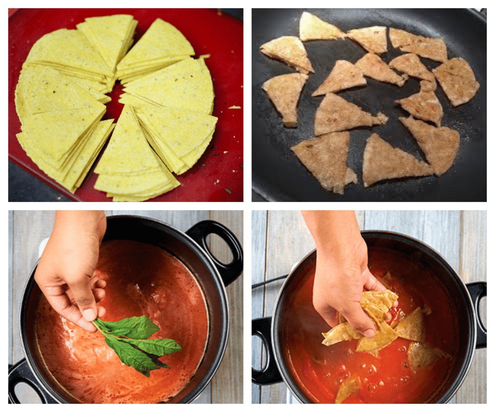 How to cook tortillas in sauce