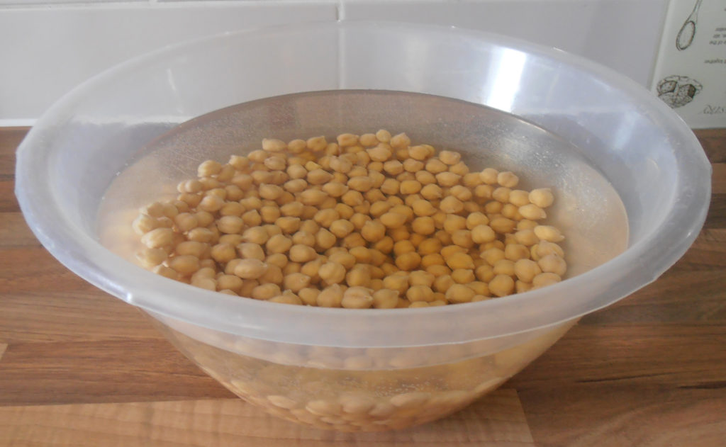 dipping chickpeas a day before