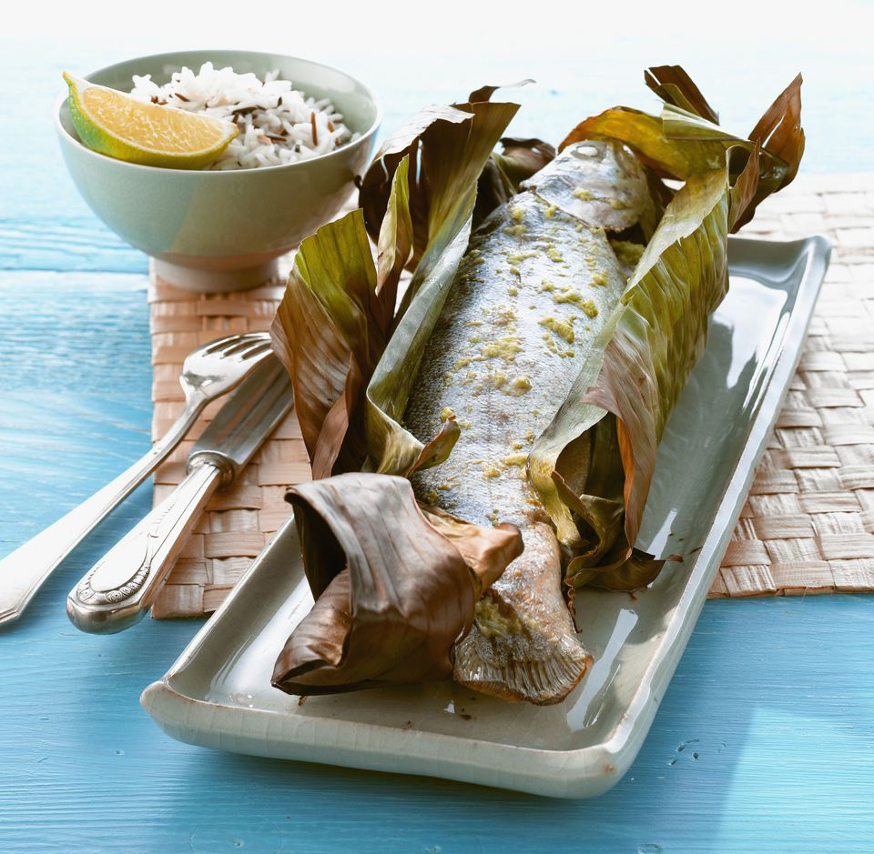 Wrap the fish