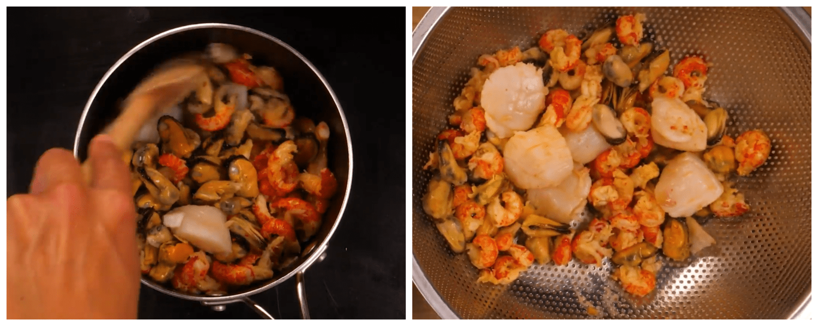 cooking seafood in butter
