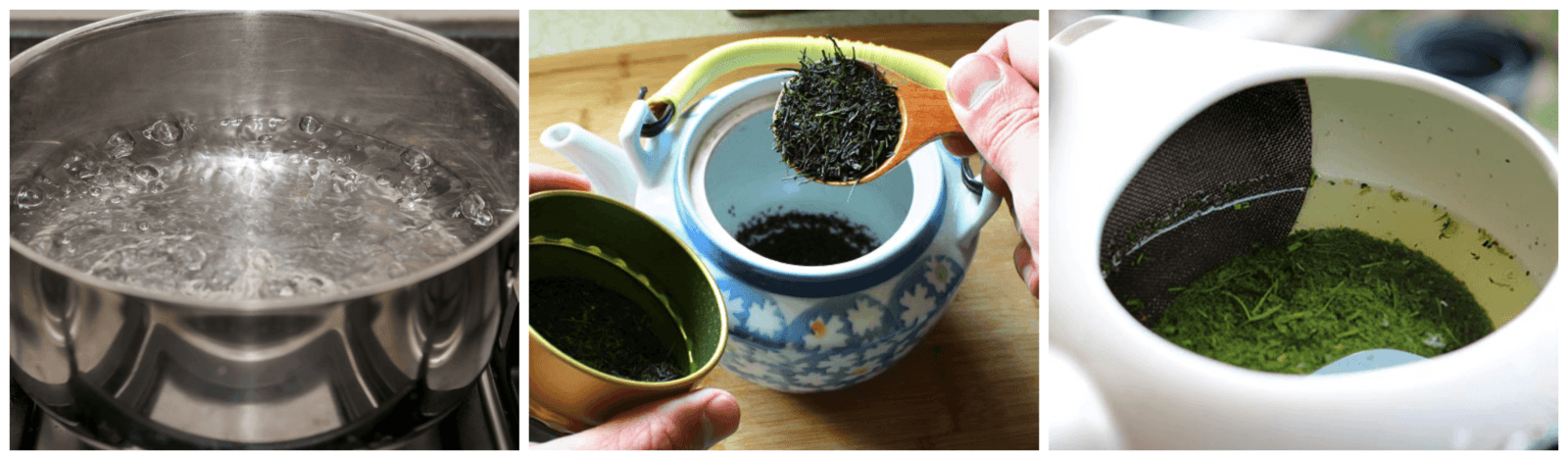 how to rinse the tea steps