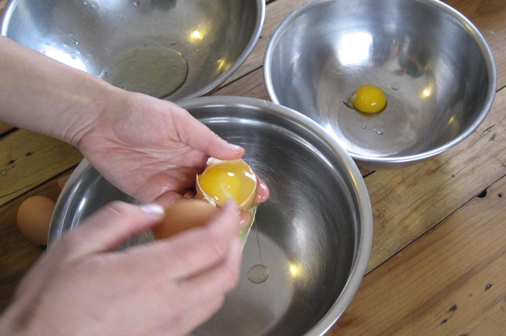 separate the yolks