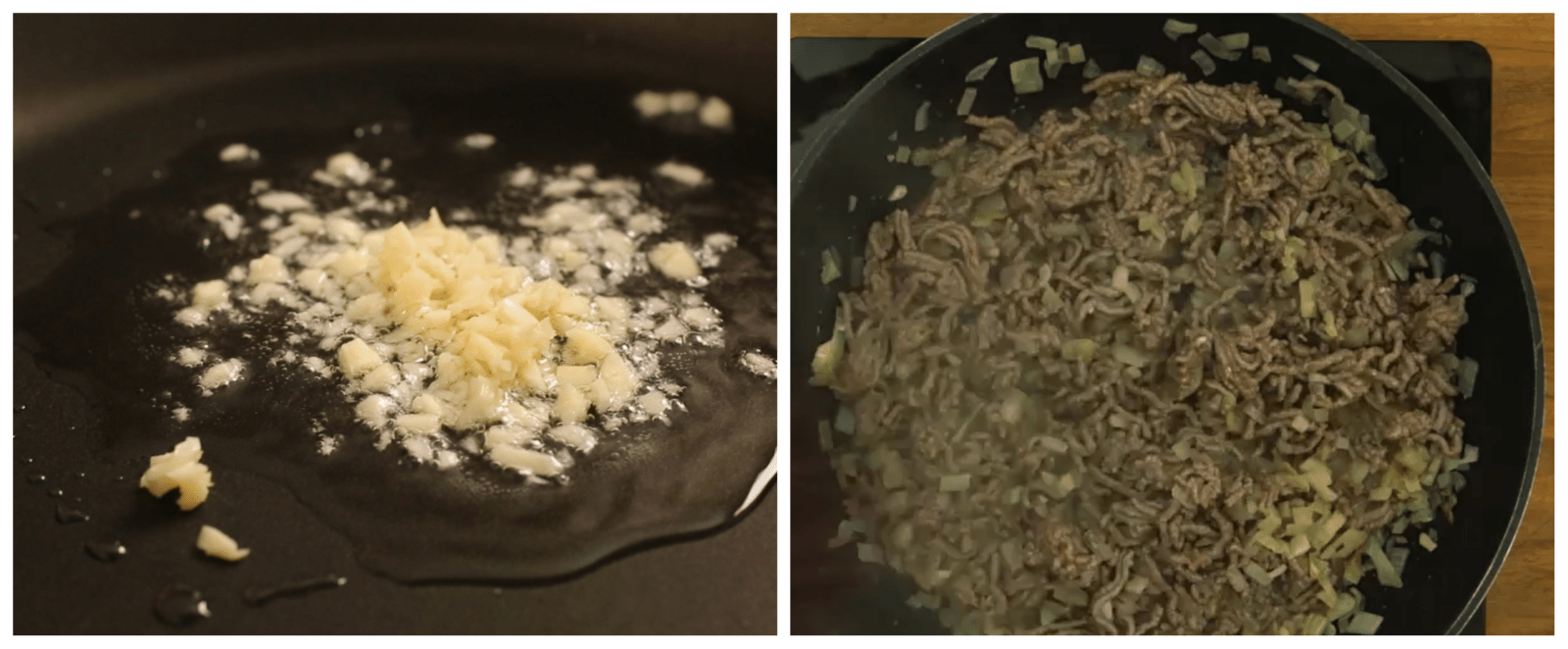 cooking meat with onion