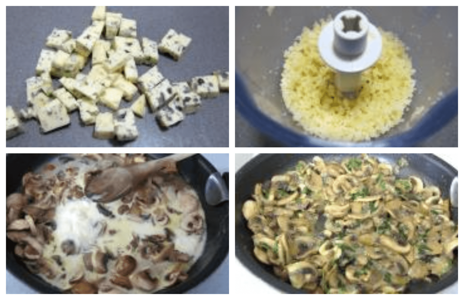 Cooking cheeses with mushroom