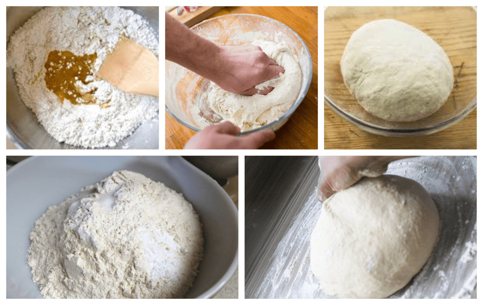 Making the dough for the regina pizza