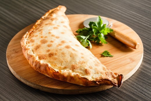Cooking calzone at home in simple steps