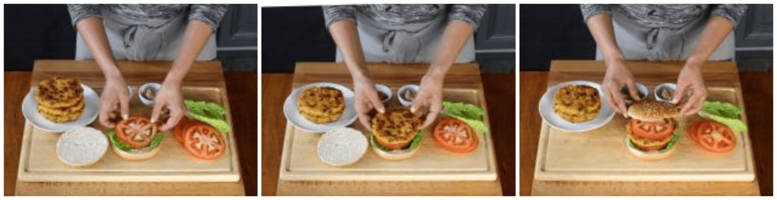 Stuffing the vegetarian hamburger