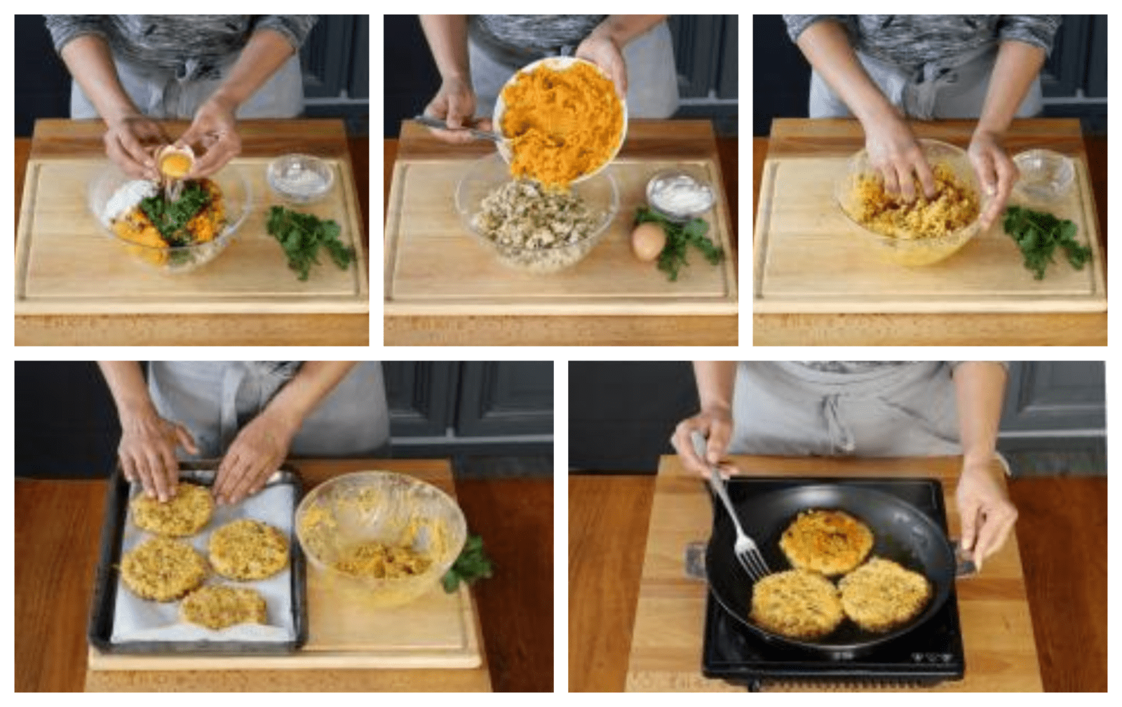 How to cook the patties of the hamburgers