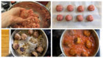 Forming the meatballs shape