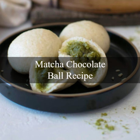 Matcha Chocolate Ball Homemade
