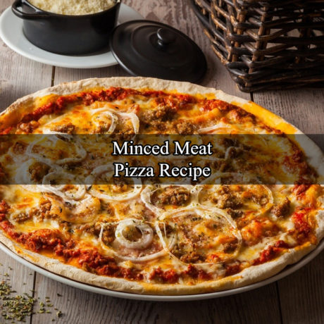 Minced meat pizza With Fresh Cream