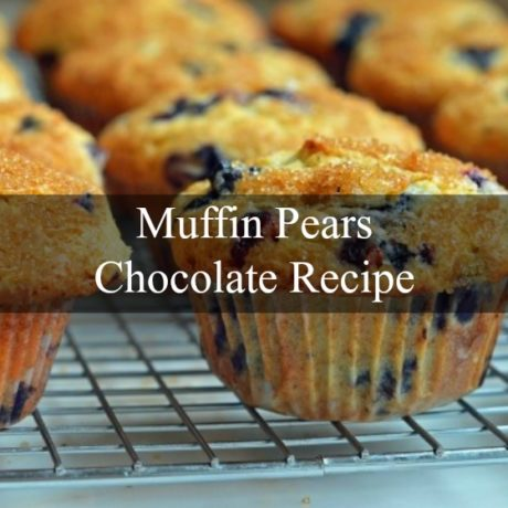 Muffin pears and Chocolate