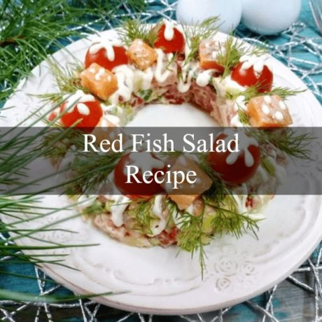 Red fish Salad Russian Style