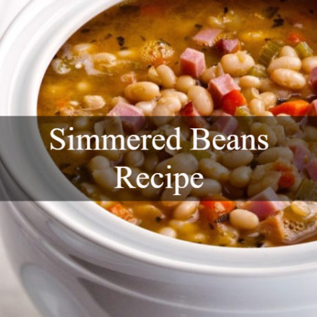 Simmered Beans Traditional Way