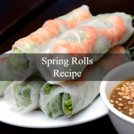 Spring Rolls Traditional Steps
