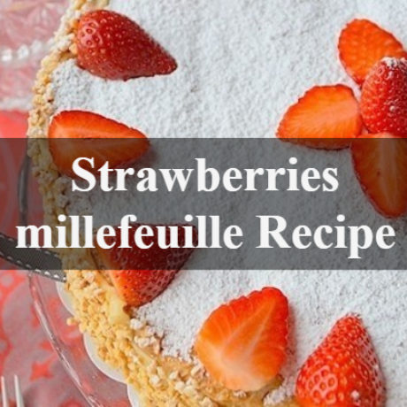 Millefeuille French Style with Strawberries