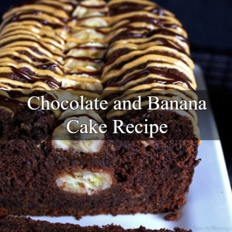 Chocolate Cake with Banana and Peanut