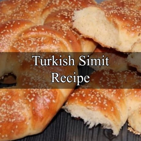Simit bread: Turkish sesame bread