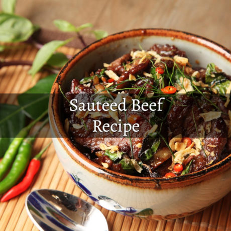 Sauteed Beef with Rice and Peanuts