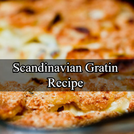 Scandinavian Gratin with Salmon and Honey