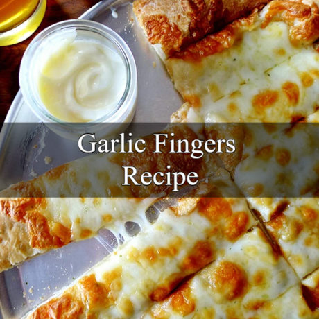 Garlic Fingers with Melted Mozzarella